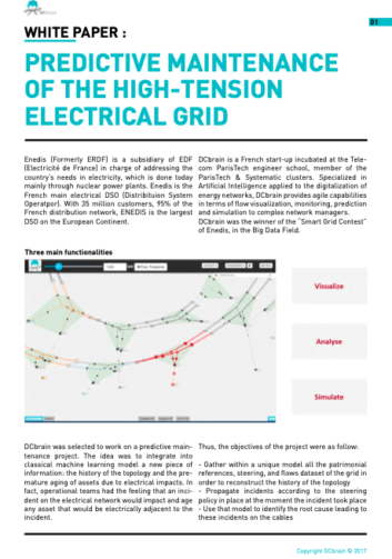 WHITE PAPER : PREDICTIVE MAINTENANCE OF THE HIGH-TENSION ELECTRICAL GRID